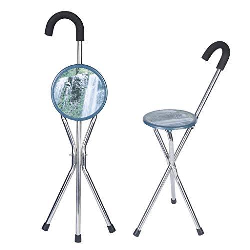 YRO Les béquilles Se Pliantes de Chaise de Canne à Trois Pieds d'alliage d'aluminium de Tabouret Stable Stable antidérapant (88 cm)