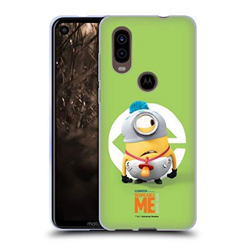 Head Case Designs Offizielle Despicable Me Stuart Baby Kostuem Minions Soft Gel Huelle kompatibel mit Motorola P40