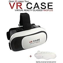 ÁpexTech Universal 3D VR gafas de realidad virtual con Mini Wireless Gamepad selfie del obturador de la cámara para teléfonos inteligentes (tamaño hasta 5,5 pulgadas)