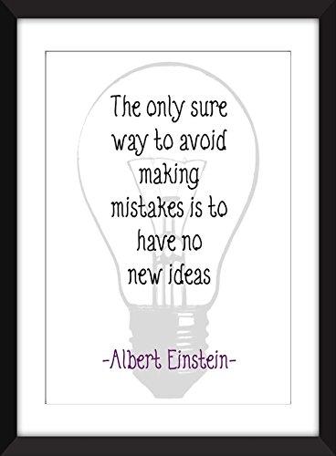 """Albert Einstein """"Mistakes"""" Zitat Kunstdruck, 11 x 14/8 x 10/5 x 7 """"A3 / A4 / A5 Druck, Typografie Druck"""