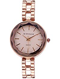 Giordano Analog Rose Gold Dial Women's Watch-C2194-22
