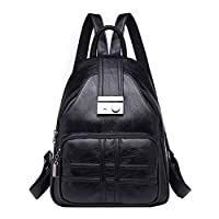 Ansenesn Womens Handbags, Simple Casual Soft Leather Anti-theft Travel Small Backpack