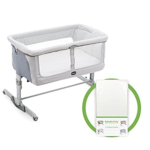 Chicco Next2Me Dream + Free Fitted Sheet Side-Sleeping Crib - Delicacy
