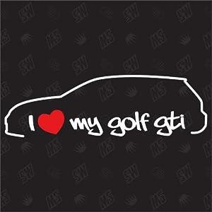 speedwerk-motorwear I Love My Golf 7 GTI - Sticker für VW - ab Bj. 2012