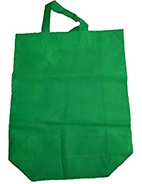 "Krishna Non Woven Box Pack Bag (SIZE: 17"" X 15"" X 4""-Inches) Green, 100 Pcs."