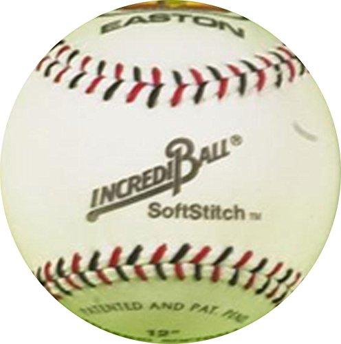 CreativeMinds UK Easton Incrediball Softball Synthetik Leder Weich Stitch Praxis Baseball Ball