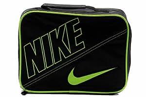 Nike Boys Black Swoosh Insulated Lunch Box Black/Volt