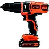 Black and Decker EGBL148KB - Taladro percutor, batería 1.5 Ah y maletín, 14.4 V, color negro y naranja