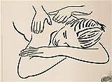 Wandaufkleber Schlafzimmer Massage Sexy Girl Massage Spa Entspannungstherapie Entspannung Gesundheit für den Schönheitssalon