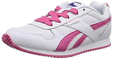 Reebok Royal Classic Jogger, Sneakers Basses Mixte Enfant - Blanc (white/candy Pink/polished Pink), 34 EU