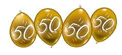 Idea Regalo - Karaloon palloncini 30014-G8, il numero 50, oro