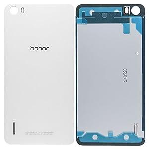 Original Huawei Akkudeckel white / weiß für Huawei Honor 6 (Akkufachdeckel, Batterieabdeckung, Rückseite, Back-Cover)