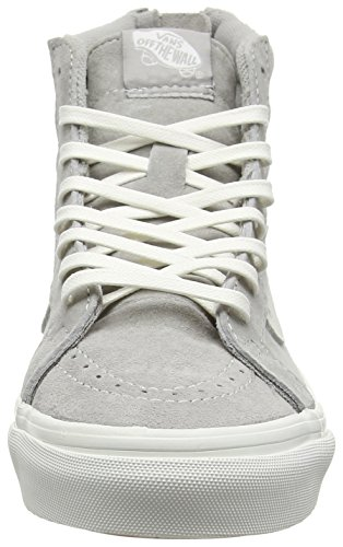 Vans U SK8-HI SLIM ZIP PERF LEATHER, Sneakers Basses mixte adulte Gris (Scotchgard cool grey/blanc de blanc)