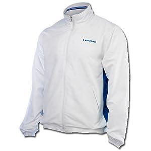 Head Jungen Tennisjacke Hartley JR All Season Jacket weiß / blau