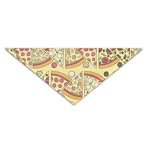Gxdchfj Cute Pizza Turban Triangle Scarf Bib Scarf Accessories Pet Cat and Baby Puppy Saliva Dog Towel