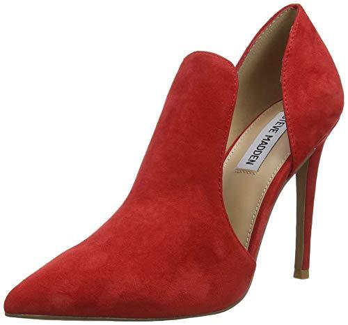 Steve Madden Dance Heel, Scarpe con Tacco Donna, Rosso (Red Suede 605), 38 EU