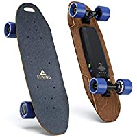 Elwing - E1500 - Nimbus - Skateboard Electrique Compact - 500 Watts - Jusqu'à 100Kg - En bois d'érable - Couleur Noir