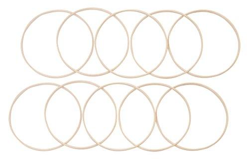Elbesee inneren Ring, Holz, braun, 20cm x 10mm tief, 10Stück