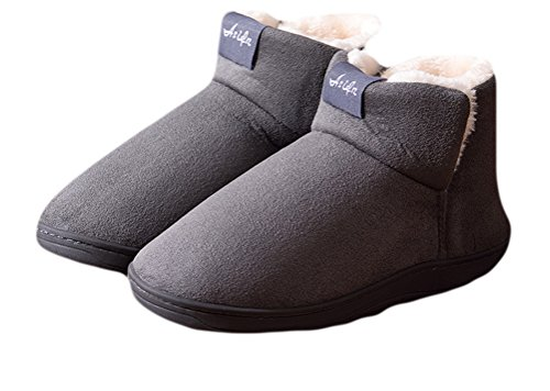 Auspicious beginning Le donne inverno caldo antiscivolo Snow Boots peluche pile scarpe traspiranti Grigio