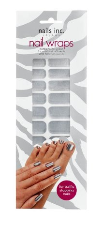 Nails Inc chiodo avvolge solido cromo - 24-Pack Wraps
