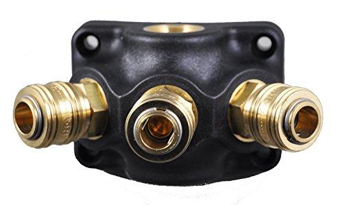 Druckluft- Verteiler Wanddose 3 x G 1/2
