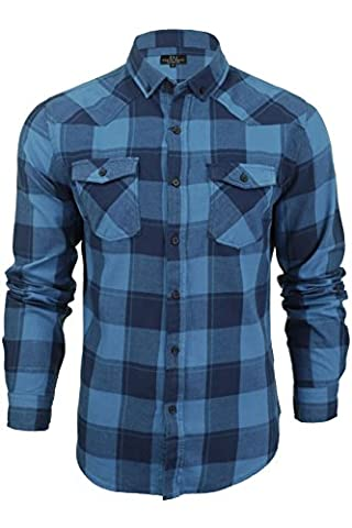 Smith And Jones Mens Exedra Check Shirt - Blue Sapphire