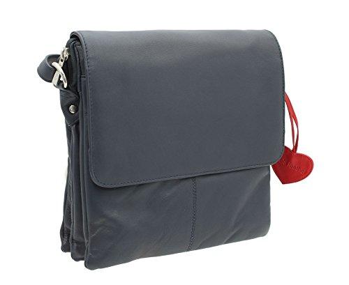 Zaino / Tracolla Mala Leather Collezione ANISHKA in Pelle 771_75 Porpora Blu marino