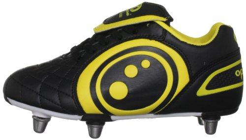 Optimum Boy's Eclipse Rugby Chaussures de rugby Junior Noir/Jaune