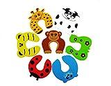 Stopanimal J-PG® Türstopper & Fingerklemmschutz für Babys und Kleinkinder - Animals 7 Stück
