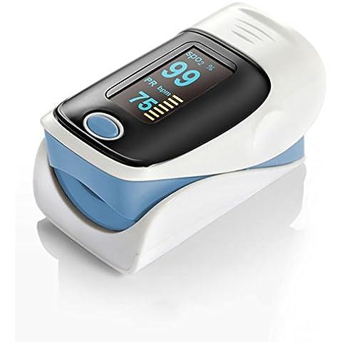 Dedo digital Pulso Oximetro de pulso SPO2 - color: azul