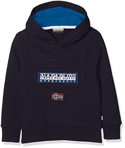 Napapijri Jungen Burgee Sweatshirt, Blau (Blu Marine 176), 140 (Herstellergröße: 10) Kinder Sweatshirt Marine