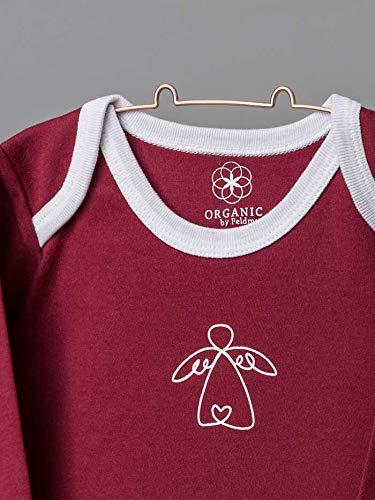 Organic by Feldman Unisex Baby Body Langarm aus Bio Baumwolle, GOTS Zertifiziert, Schutzengel Rot, (86/92) - 2