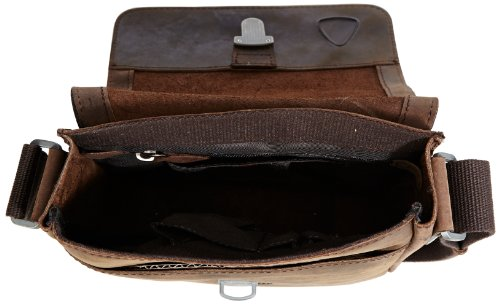 Strellson Richmond borsa a tracolla pelle 22 cm Braun (dark brown 702)