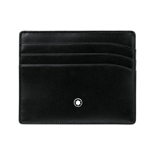 The Meisterstueck Pocket 6cc is made of black full-grain calfskin and black jacquard lining with Montblanc brand name. As part of the legendary Meisterstueck collection, this black pocket holder stands for long traditions of crafting products with fi...