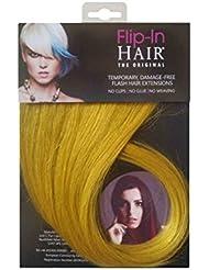 Flip-In Hair Extensions capillaires, jaune 40cm/40cm