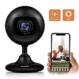 Wansview K3 - Telecamera IP WLAN 1080P HD, monitor wireless per bambini, anziani, animali domestici, con audio a 2 vie, funzione visione notturna e istruzioni, Nero