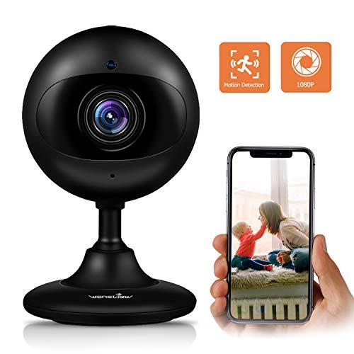 Wansview WLAN IP Kamera 1080P HD, Wireless Überwachungskamera als Baby, Ältere, Haustiere Monitor, mit Bewegungserkennung, Zwei-Wege Audio, Nachtsicht Funktion K3 Schwarz Cloud Version -