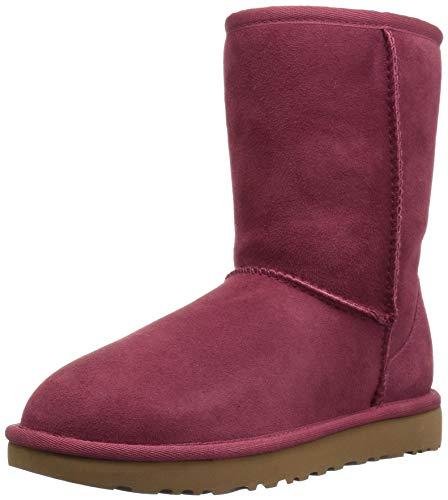 Ugg Australia Classic Short II 1016223-GAR Suede Womens Boots - Garnet - 41 (Boot Short Womens Ugg)