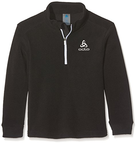 1/2 Zip Pullover Sweatshirt (Odlo Kinder Midlayer 1/2 Zip LE Tour Kids Pullover & Sweatshirts, Black, 104)