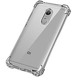Caresale Xiaomi Redmi Mi Note 4 Back Case Cover Transparent Anti Drop Shockproof with Bumper Corner Screen and Camera Protection Xiaomi Redmi Mi Note 4 (Transparent)