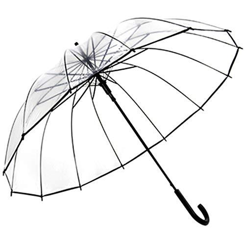 WYAFEI Regenschirm Transparent Dome Windproof Blade Umbrella Fan