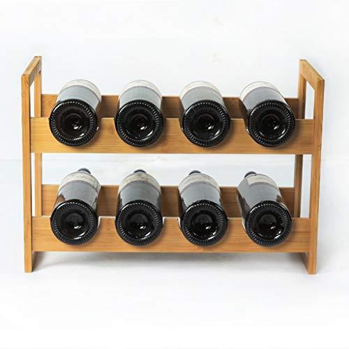 MJK Weinflaschenständer, 8 Flaschen 47.2 * 22.2 * 32CM Mesa Flaschenständer Küche Wohnzimmer Weinkeller, Bar Restaurant Weinkühler, Weinständer -