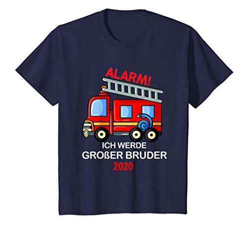 Kinder Großer Bruder 2020 T-Shirt Feuerwehr Geschenk Idee T-Shirt (Große-bruder-schwester-shirt)
