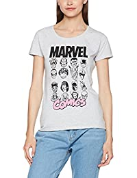 Marvel Comics Multi Heads Ladies, T-Shirt Femme