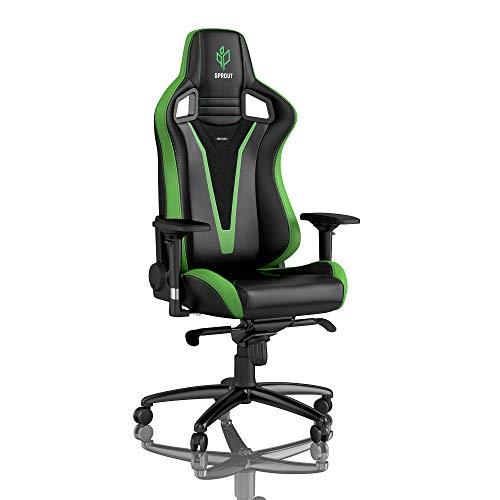 noblechairs Epic Gaming Stuhl - Bürostuhl - Schreibtischstuhl - PU-Kunstleder - Inklusive Kissen - Sprout Edition - Schwarz/Grün
