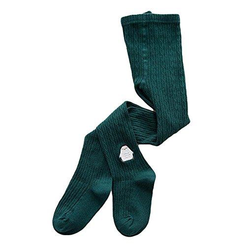 Collants pour bébés tout-petits, Meedot Coton à rayures fines Collants pour animaux Ensembles pour enfants Green L/5-7 years