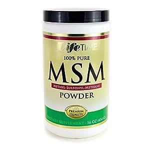 Lifetime - 100% Pure MSM en poudre 2500 mg - 453 gr