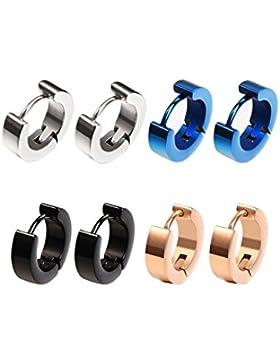 Edelstahl kleine Band Ohrringe hypoallergen Ohrstecker Ohr Ring, 8 Stück