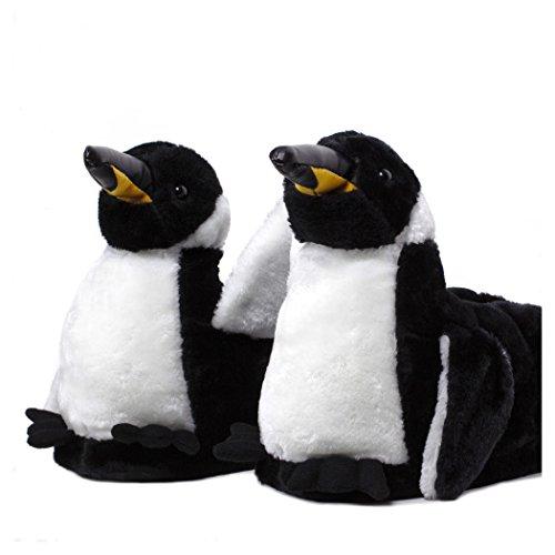 Sleeper'z - Pingouin - Chaussons animaux peluche - Homme Femme Enfant - Cadeau original