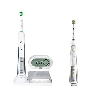 Braun Oral-B Triumph 5500 Elektrische Premium-Zahnbürste (mit 2. Handstück, Reise-Etui und SmartGuide)